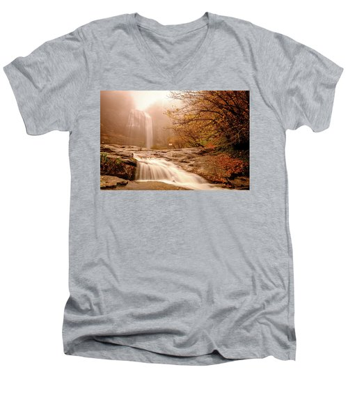 Waterfall-11 Men's V-Neck T-Shirt