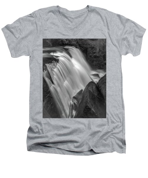 Men's V-Neck T-Shirt featuring the photograph Waterfall 1577 by Chris McKenna
