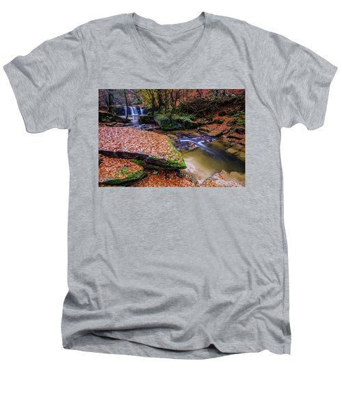 Waterfall-3 Men's V-Neck T-Shirt
