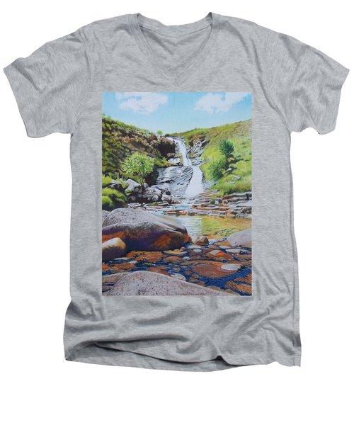 Waterfall On Skye 2 Men's V-Neck T-Shirt