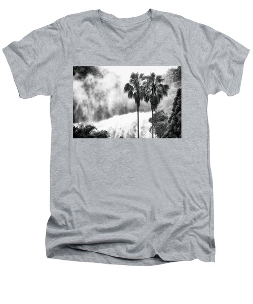 Men's V-Neck T-Shirt featuring the photograph Waterfall Sounds by Hayato Matsumoto
