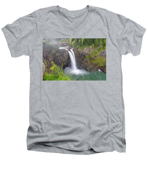 Waterfall Through The Mist Men's V-Neck T-Shirt