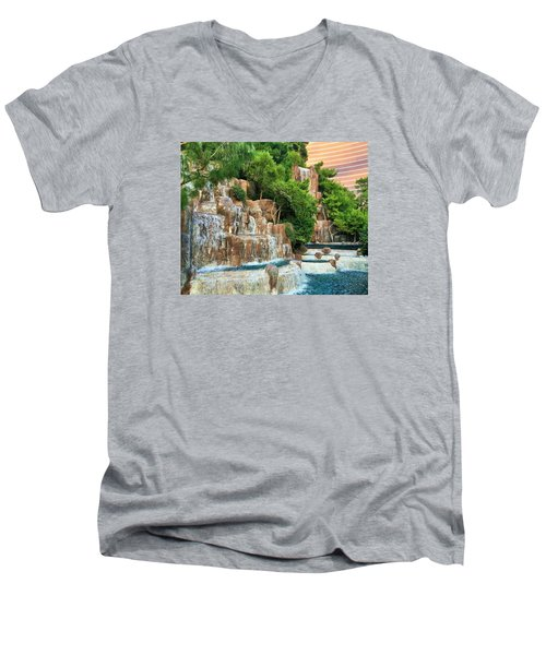 Waterfall Vegas Men's V-Neck T-Shirt