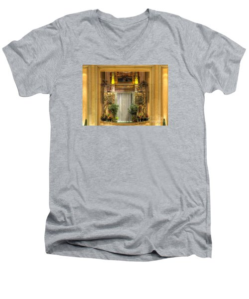 Waterfall View And Hues Men's V-Neck T-Shirt