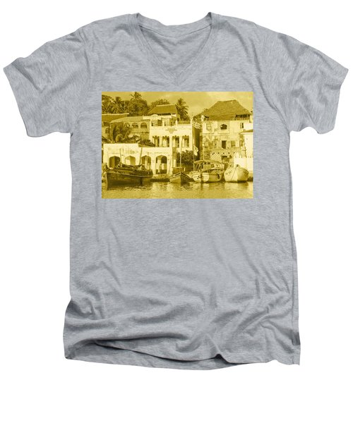 Waterfront Men's V-Neck T-Shirt by Patrick Kain