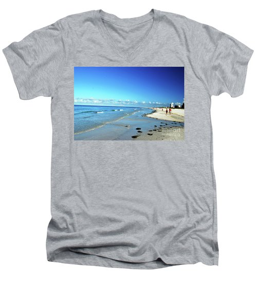 Men's V-Neck T-Shirt featuring the photograph Water's Edge by Gary Wonning