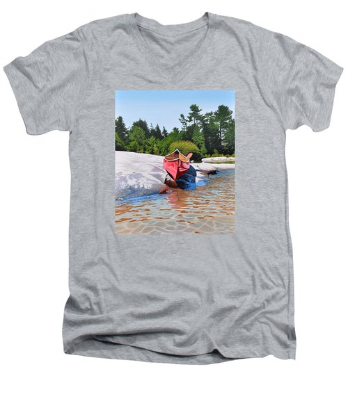 Waters Edge Men's V-Neck T-Shirt