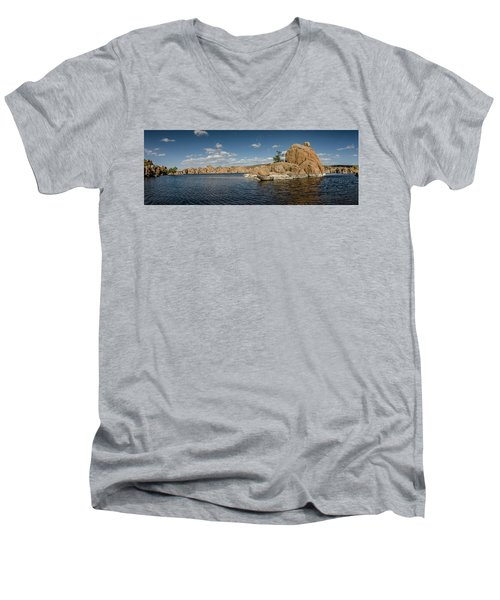 Watson Lake Panorama Men's V-Neck T-Shirt