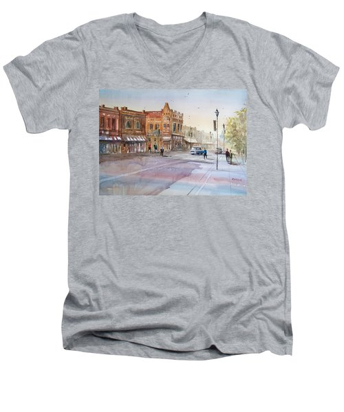 Waupaca - Main Street Men's V-Neck T-Shirt