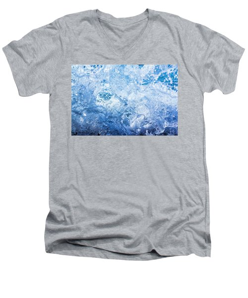 Wave With Hole Men's V-Neck T-Shirt