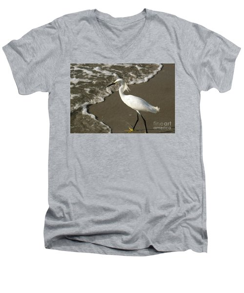 Wave And Snowy Men's V-Neck T-Shirt