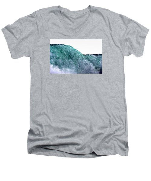 Men's V-Neck T-Shirt featuring the photograph Wave Rider by Dana DiPasquale