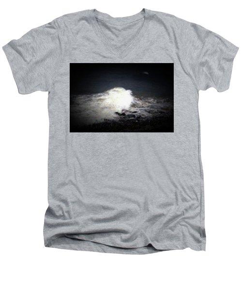 Wave Rolling Onto Beach Men's V-Neck T-Shirt