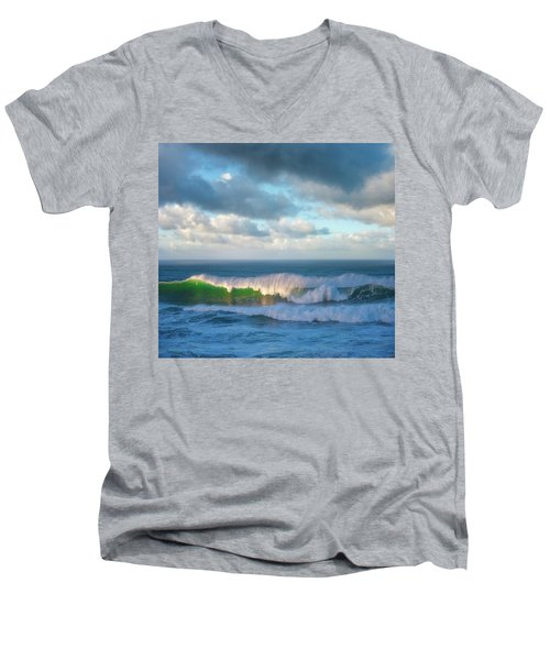 Men's V-Neck T-Shirt featuring the photograph Wave Length by Darren White