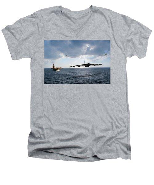 Waverunner Men's V-Neck T-Shirt by Peter Chilelli