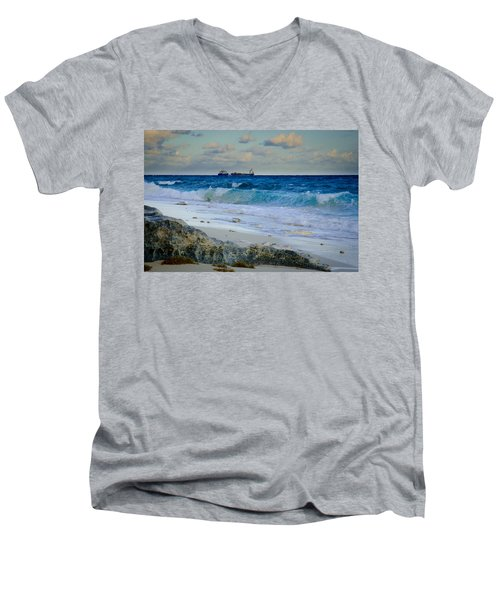 Waves And Tankers Men's V-Neck T-Shirt