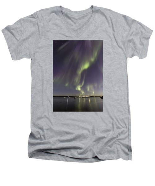 Waves Of Color Men's V-Neck T-Shirt