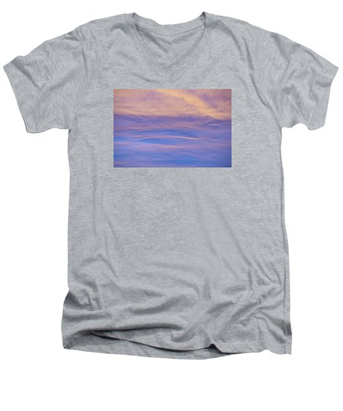 Men's V-Neck T-Shirt featuring the photograph Waves Of Color by Wanda Krack