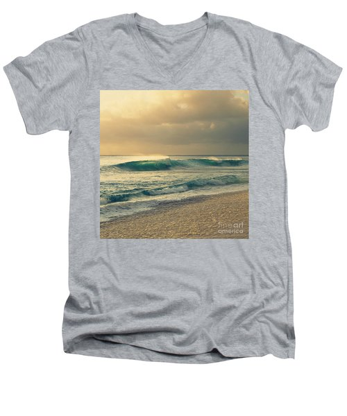Waves Of Light - Hipster Photo Square Men's V-Neck T-Shirt