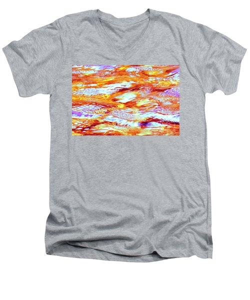 Waves Of Light Men's V-Neck T-Shirt