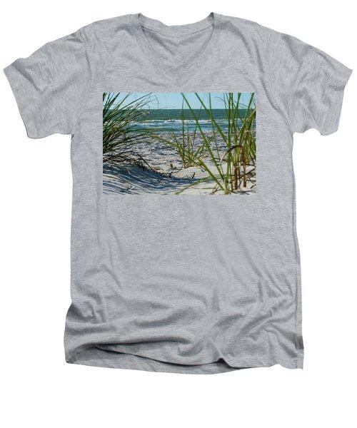 Waves Through The Grass Men's V-Neck T-Shirt
