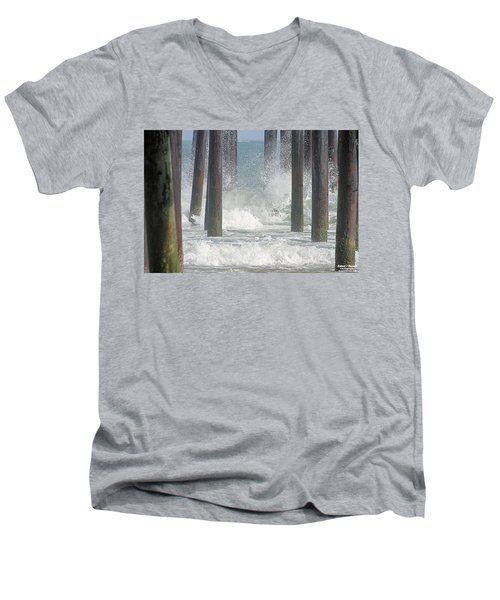 Waves Under The Pier Men's V-Neck T-Shirt