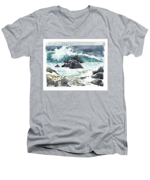 Wawaloli Beach, Hawaii Men's V-Neck T-Shirt
