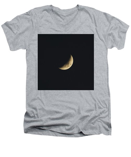 Waxing Crescent Spring 2017 Men's V-Neck T-Shirt by Jason Coward