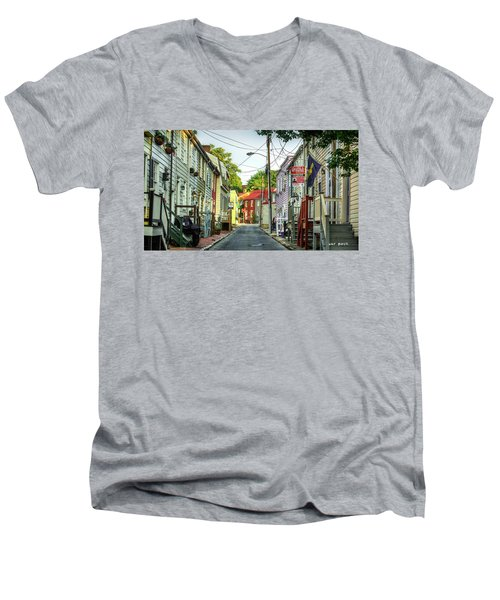 Way Downtown Men's V-Neck T-Shirt