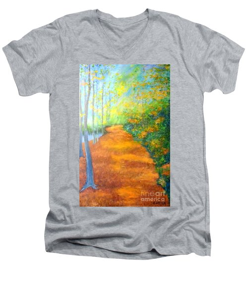 Way In The Forest Men's V-Neck T-Shirt