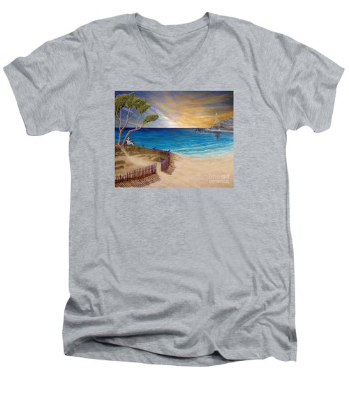 Way To Escape Men's V-Neck T-Shirt by Kimberlee Baxter