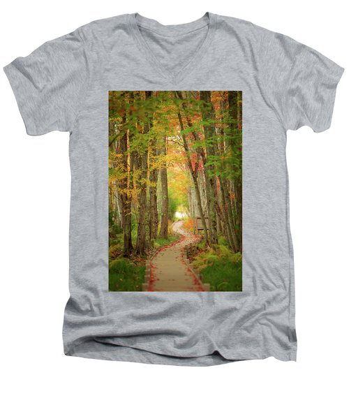 Men's V-Neck T-Shirt featuring the photograph Way To Sieur De Monts  by Emmanuel Panagiotakis