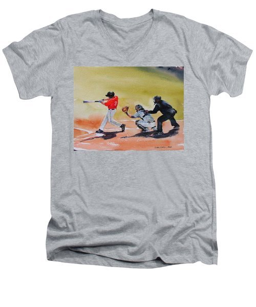 Wcu At The Plate Men's V-Neck T-Shirt
