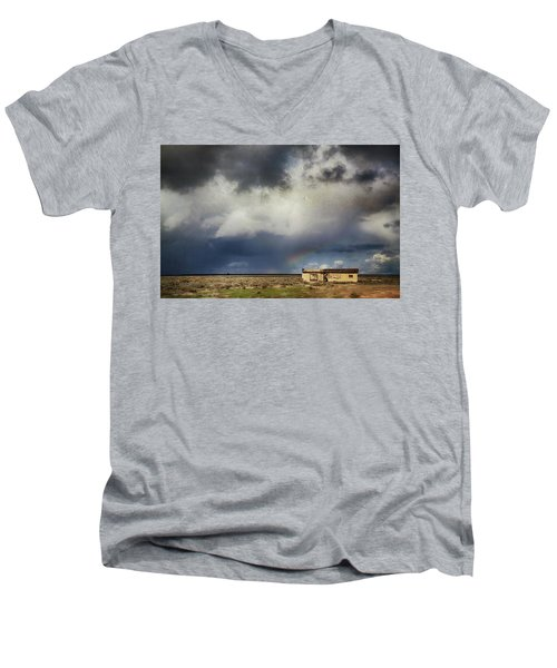 Men's V-Neck T-Shirt featuring the photograph We All Need A Little Hope by Laurie Search