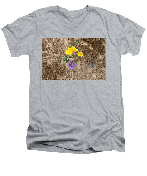 Men's V-Neck T-Shirt featuring the photograph We Are Family by Marie Neder