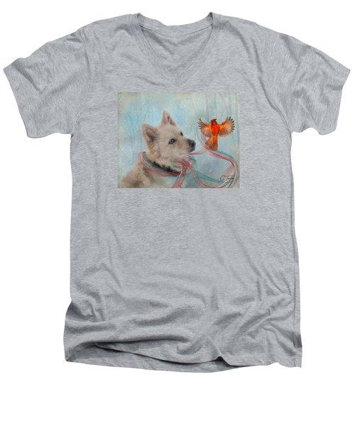 We Can All Get Along Men's V-Neck T-Shirt