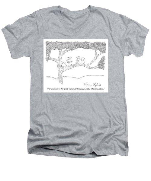 We Could Be Wilder Men's V-Neck T-Shirt