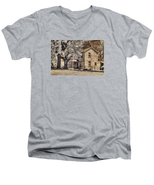 We Had Cows In The Yard Men's V-Neck T-Shirt by William Fields
