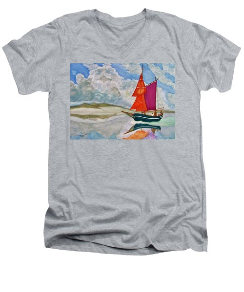 We Sailed Upon A Sea Of Glass Men's V-Neck T-Shirt by Rand Swift