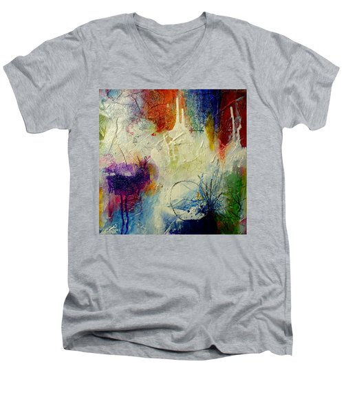 We Should Be Dancing Men's V-Neck T-Shirt by Tracy Bonin