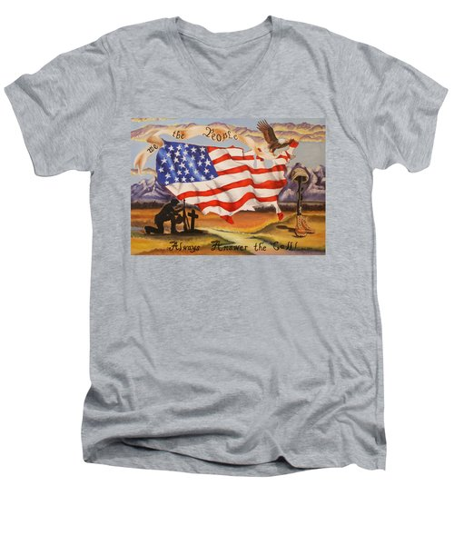 We The People Men's V-Neck T-Shirt
