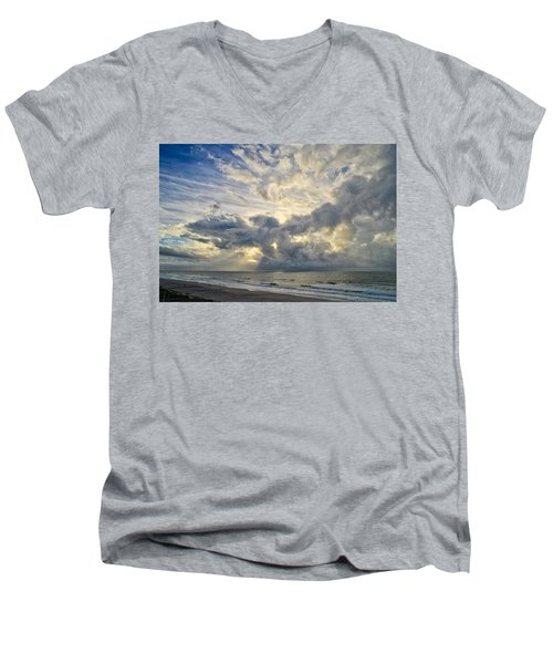 Weather Over Topsail Beach 2977 Men's V-Neck T-Shirt