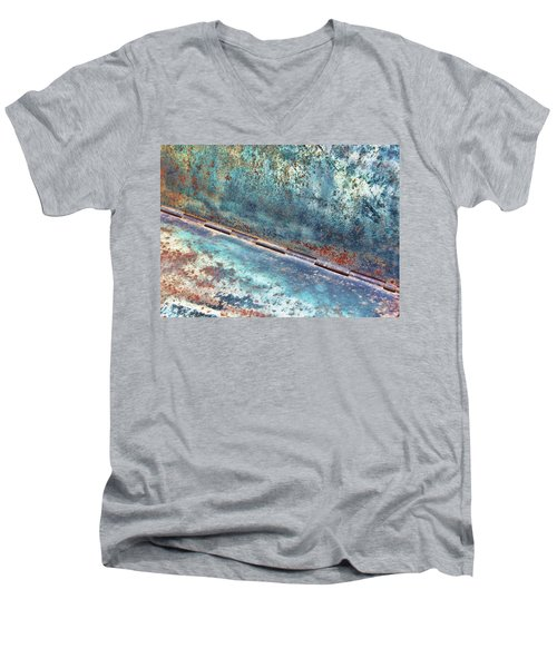 Men's V-Neck T-Shirt featuring the photograph Weathered by Kathy Bassett
