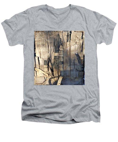 Weathered Plywood Composition Men's V-Neck T-Shirt