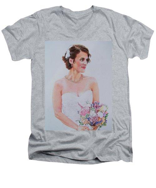 Wedding Day Men's V-Neck T-Shirt by Constance DRESCHER