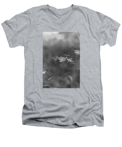 Weed 3 Men's V-Neck T-Shirt by Simone Ochrym