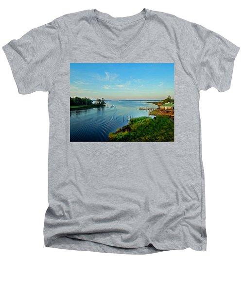 Weeks Bay Going Fishing Men's V-Neck T-Shirt
