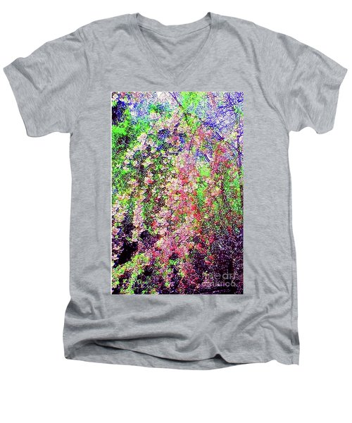 Weeping Cherry Men's V-Neck T-Shirt