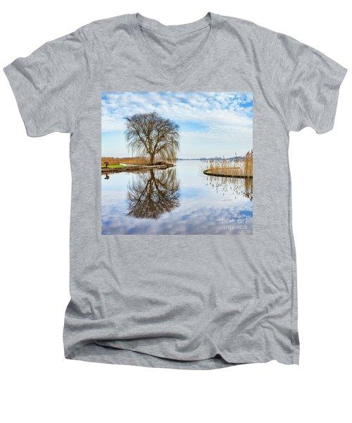 Weeping-willow-1 Men's V-Neck T-Shirt