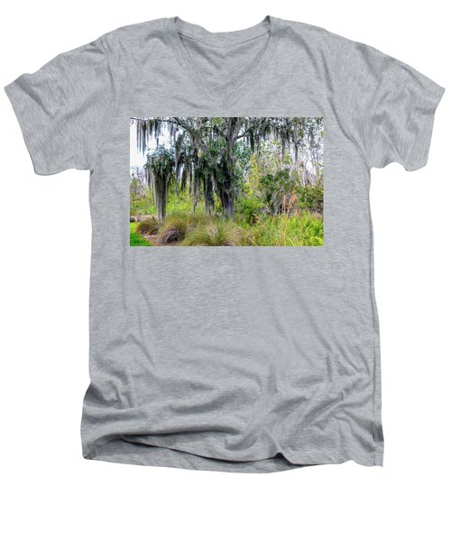 Men's V-Neck T-Shirt featuring the photograph Weeping Willow by Madeline Ellis